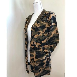 Jackets & Blazers - CAMO SWEATER JACKET